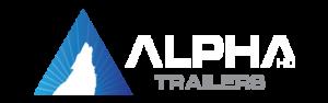 Alpha HD Trailers Logo with wolf logomark