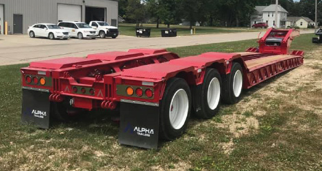 2021 A110HDG-SF Trailer in red